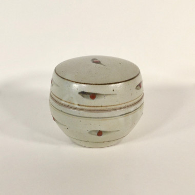 David Leach - A lidded pot with dot pattern