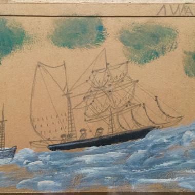 Alfred Wallis - Sailing Ship and Steamer