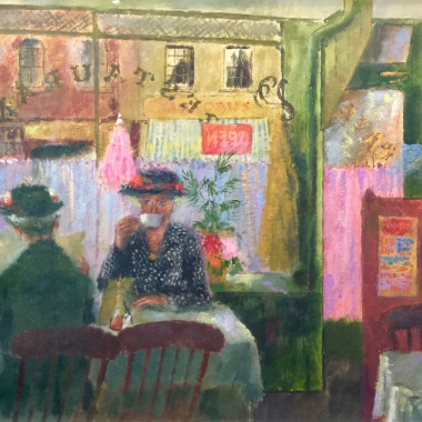 James Fitton - Ladies Taking Tea, c 1950