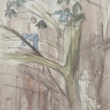 Mary Potter - Figures Climbing a Tree