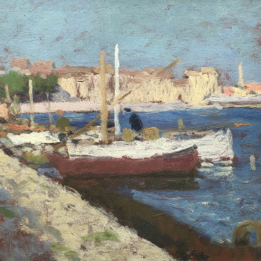 Edward Le Bas - Fishing Boats, Martigues, 1948