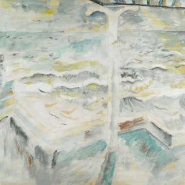 David Jones - Balcony and Seascape, 1929