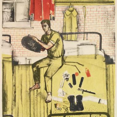 John Minton - Guardsman, No.5 from Coronation Series, 1953