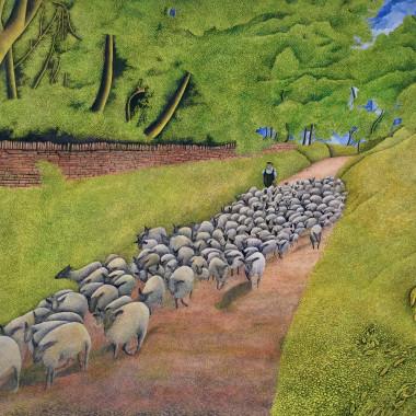 James Lloyd - Herding Sheep, c 1960s