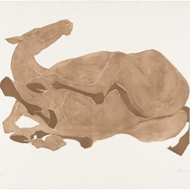 Elisabeth Frink - Rolling Over Horse, 1980