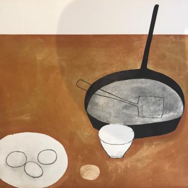 William Scott - Still life (with Frying Pan), 1973