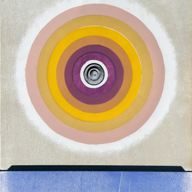 Michael Rothenstein - Circle (Beige to Purple, Black Centre) (Sidey 182), 1969