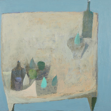 Nicholas Turner - Table with Fruit and Bottle, 2017-18
