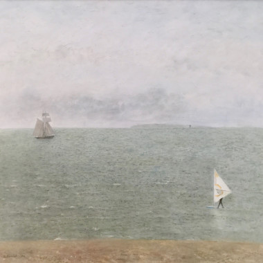 Richard Eurich - Wind Surfer Seascape, 1984