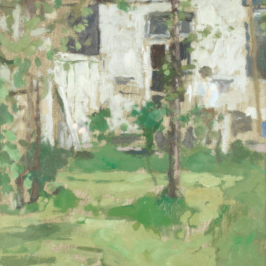 Bernard Dunstan - The Back Garden, c 1970