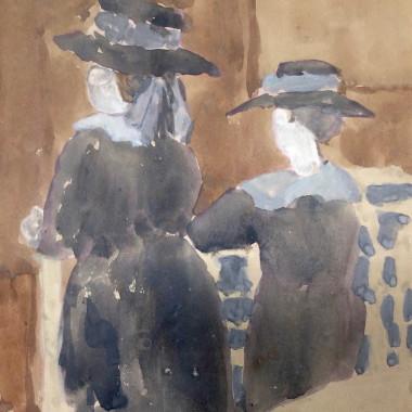 Gwen John - Two Girls in Church, c 1910s