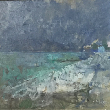 Peter Greenham - Beach with Dark Sky