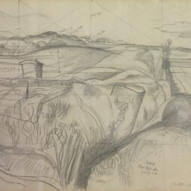 John Nash - Study for The Deserted Sheep Pen, c 1939