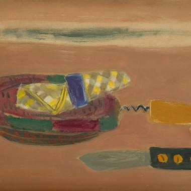 Henri Hayden - Still life with Knife, 1963