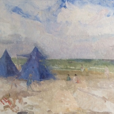 Peter Greenham - Beach Scene, Le Touquet, c 1950s