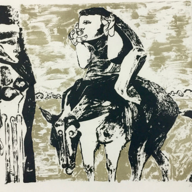 Robert Colquhoun - Man on Horse (Mysterious Figures, or The Journey), c 1960