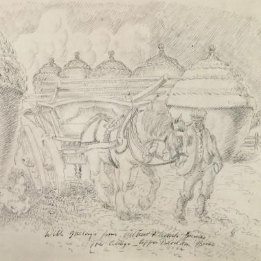 Gilbert Spencer - The Cottage, Upper Basildon, Berkshire