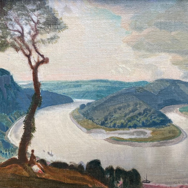 Charles March Gere - The Wye at Lancant, 1939