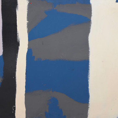 Barry Daniels - Untitled 06 (Blue and Grey Stripes)