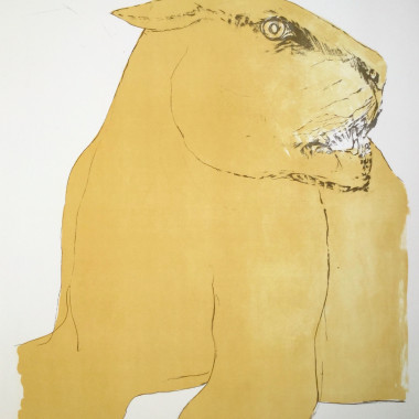 Elisabeth Frink - Lioness, from Images, 1967
