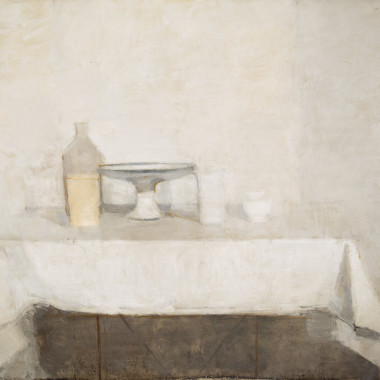 William Brooker - Still life, Compotier, Jars and Pot, 1961