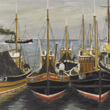 Derek Wilkinson - Fishing Boats (Cornish Harbour), 1957