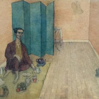 Laurence Scarfe - Student Life, The Artist-Orientalist Having Tea, Chelsea, 1941