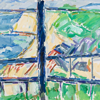 Peter Coker - View From Balcony, Hotel Dormy, Étretat, 1987 circa