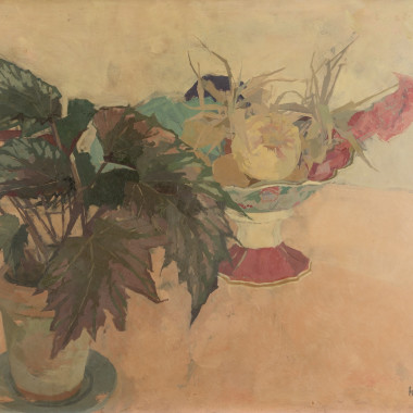 Heather Copley - No Two II (Still life with Fruit and Plant), 1964