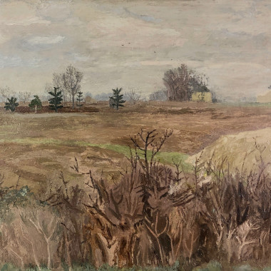 Mary Potter - Winter Landscape, Essex, c 1946