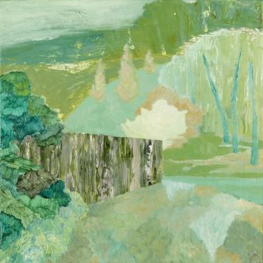 Richard Ballinger - Untitled (Woodland with Wall), 2019