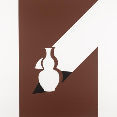Patrick Caulfield - Arita Flask, from White Ware Prints, 1990