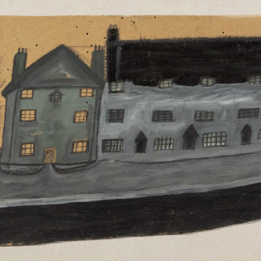 Alfred Wallis - Houses and Trees by a Road, 1930s circa