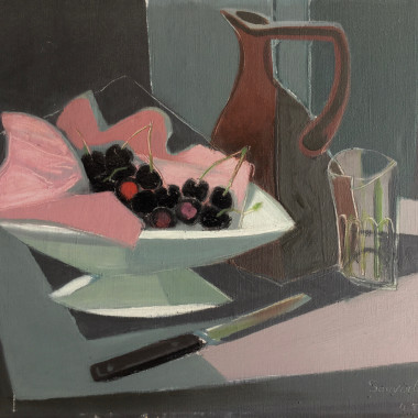 Jean Souverbie - Still life with Cherries, 1945
