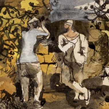 Keith Vaughan - Two Figures in the Trees, 1943