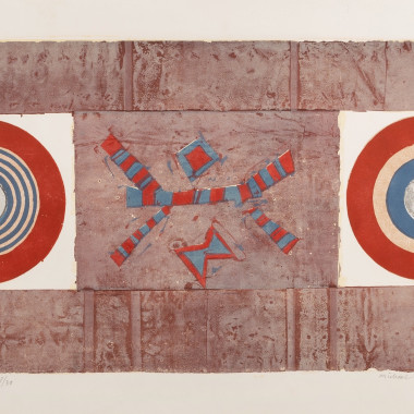 Michael Rothenstein - Two Circles, Red, Blue and Brown, 1965-66