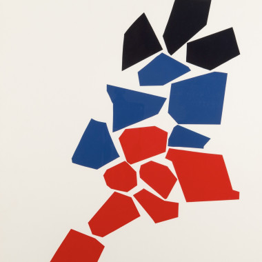 Robert Goodnough - One Two Three (Navy, Blue and Red), 1968