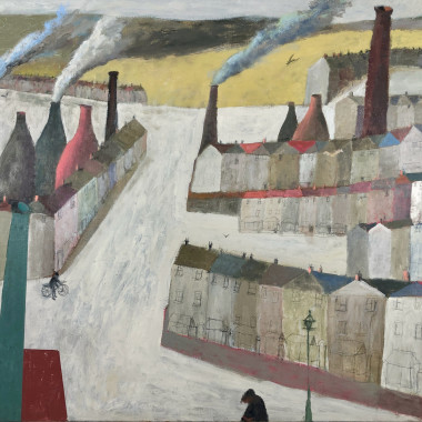 Nicholas Turner - Town with Chimneys, 2020