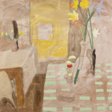 Kate Nicholson - Flowers on a Table, 1965
