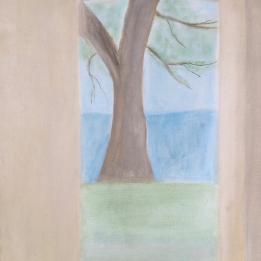 Craigie Aitchison - Tree at Oppedette, 1973