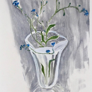Tessa Newcomb - Untitled (Flowers in a Glass), 1996