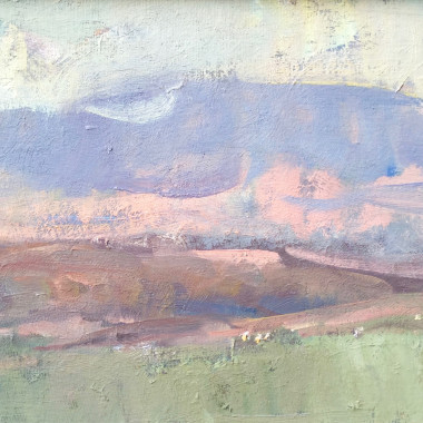 Martin Yeoman - Wiltshire Landscape with Cows, Evening