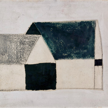 Francis Davison - Untitled (Two Barns), c 1950