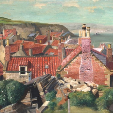 Richard Eurich - Red Roofs, Robin Hood's Bay, Yorkshire, 1938