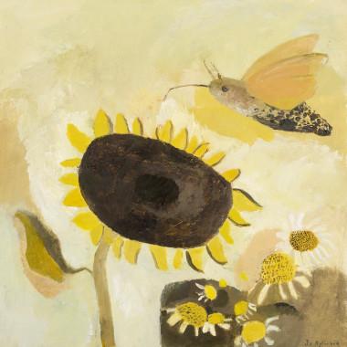Jo Aylward - Hummingbird Hawk Moth Enjoying the Kitchen Garden, 2020