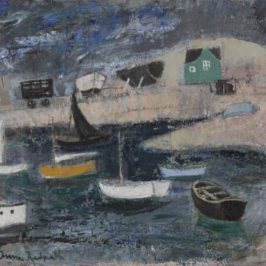 Anne Redpath - The Harbour, Dublin, 1947 circa