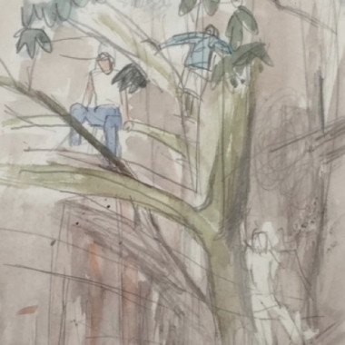 Mary Potter - Figures Climbing a Tree