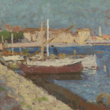 Edward Le Bas - Fishing Boats, Martigues, 1948