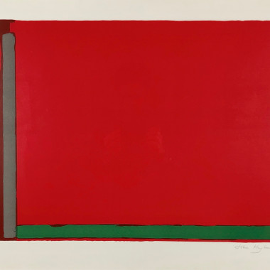 John Hoyland - Large Swiss Red, 1968
