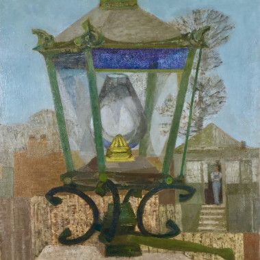 Prunella Clough - Station Lamp (Figure in a Doorway), 1947